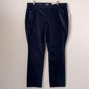 NYDJ Black Marilyn Straight Velvet Jeans Plus Size 22W